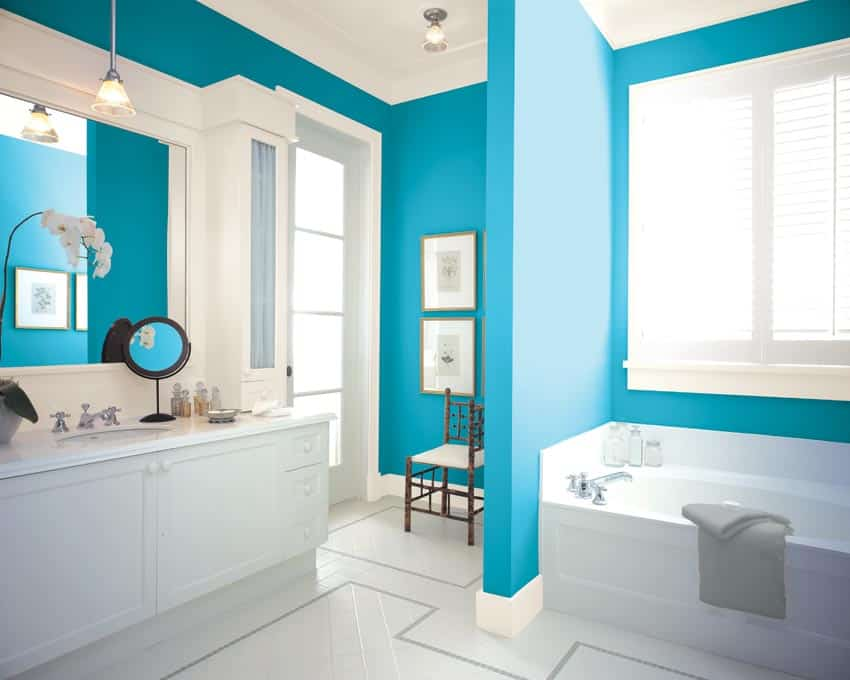 Beautiful Bathroom Color Schemes For 2018: 2018 Bathroom Wall Paint Colors You Will Abolutely Love