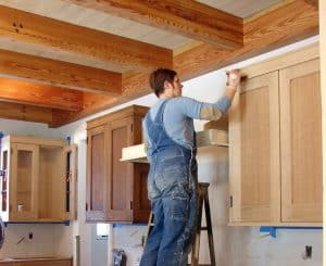 Stain your cabinets for a new look